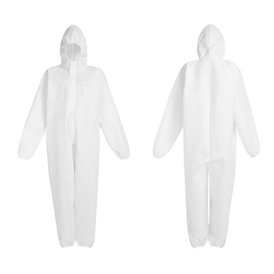 Disposable Coverall Full Body Suit with Hood, Waterproof, pack/6