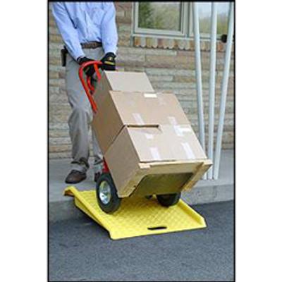 "Eagle® Curb Ramp, Yellow Polyethylene, 27"" x 27"" x 4"", 1000 lb Max"