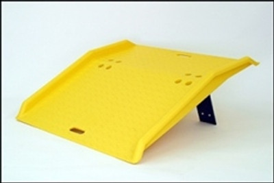 "Portable Dock Plate for Hand Trucks, 36"" x 35"" x 5"", 750lb Capacity, Polyethylene"