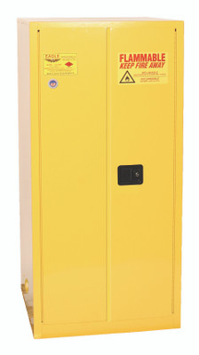 Eagle® Vertical Drum Cabinet, 55 gallon Drum with 2 Doors, Self-Closing