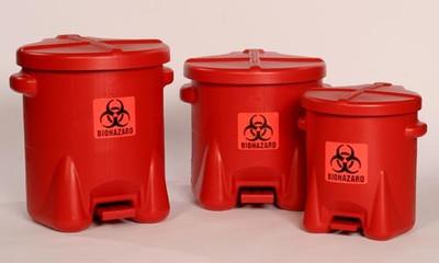 Eagle® Biohazard Polyethylene Disposal Can,10 gallon, Red