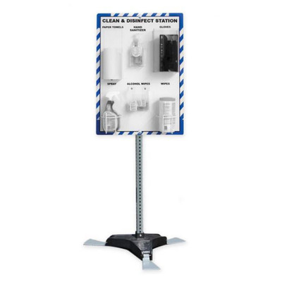 """Clean and Disinfect PPE Station, with Stand, 32"""" x 24"""", Station Only"""