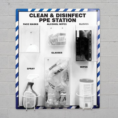 """Clean and Disinfect PPE Station, 27"""" x 24"""", Station Only"""