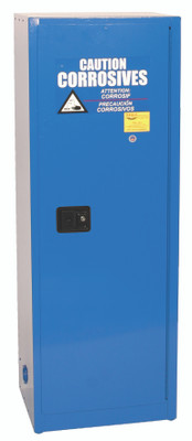 Eagle® Acid Safety  Cabinet, 24 gallon, 1 Door, Self-Closing for Corrosives