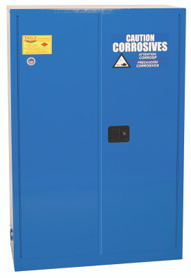 Eagle® Acid Safety Cabinet, 45 gallon, 2 Door, Manual Close for Corrosives