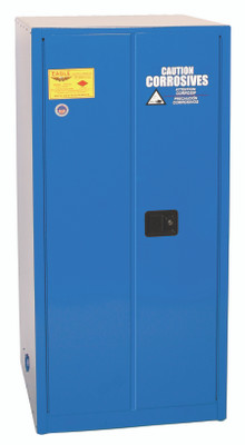 Eagle® Acid Safety Cabinet, 60 gallon, 2 Door, Self-Closing for Corrosives