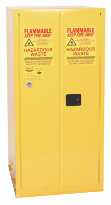 Eagle® Vertical Drum Safety Storage Cabinet 55 gallon, 2 Doors, Manual Close