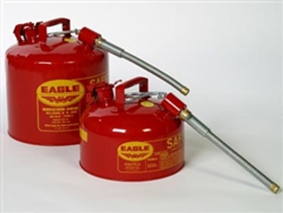 """Eagle® Type II Safety Can, 2 gallon with 5/8"""" O.D. Flexible Spout"""