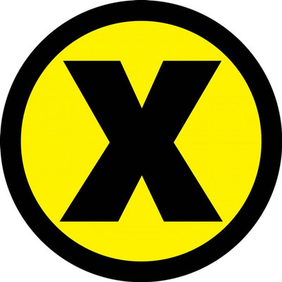 "Slip-Gard Floor Sign, X Symbol Yellow, 12"", Each"