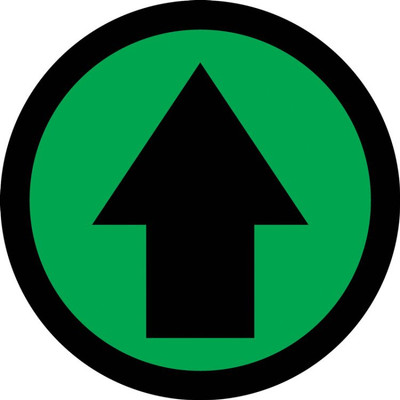 "Social Distancing Pavement Sign Arrow, 17"", Each"