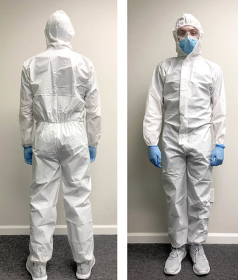 Bodysuit Kit, Waterproof Coveralls and Vented Goggles, Personal Protection Suit
