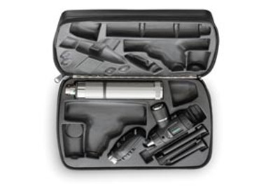 Veterinary Set Includes: 1 ea Ophthalmoscope 11720, Otoscope 20260, Power Handle 71000-A, & Hard Case 05966-U