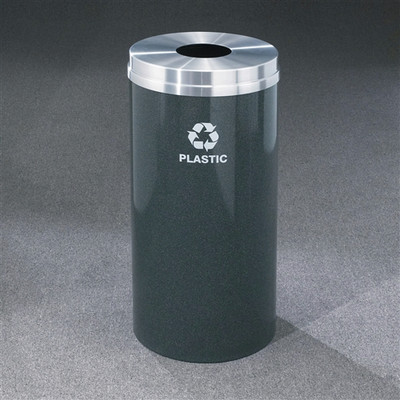 Recycling Bin, RecyclePro Waste Receptacle For Bottles /Cans, 16 gal