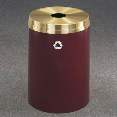 Recycling Bin, RecyclePro Waste Receptacle For Bottles /Cans, 33 gal