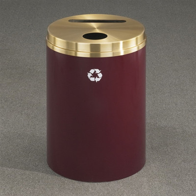 Dual Purpose Recycle Bins, RecyclePro (Paper, Bottle, Cans) 33 gal