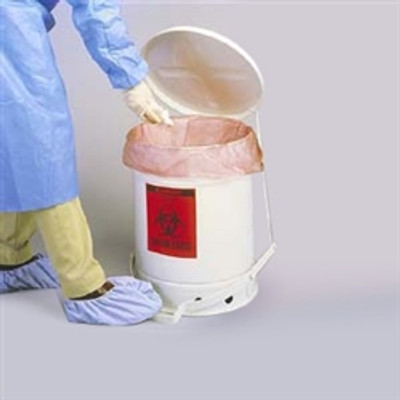 Justrite® 10 gallon Biohazard Waste Can, Choose Color