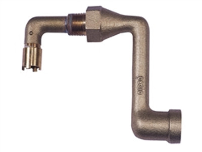 """Justrite® Cast Iron Elbow 2"""" Fitting For Mounting 08101 or 08005"""