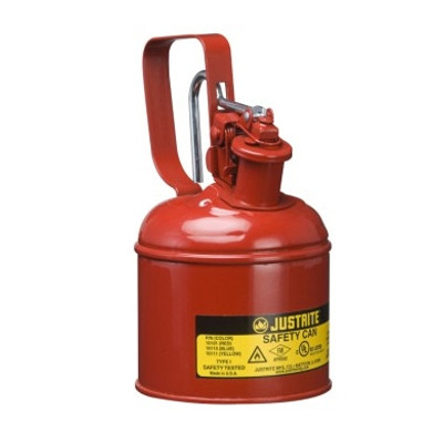 Justrite 10101 1 Quart Steel Safety Can