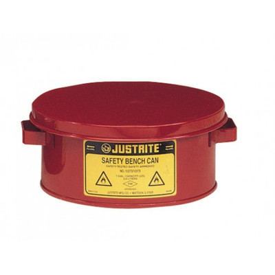 Justrite 10775 Steel Bench Can, 3 gallon