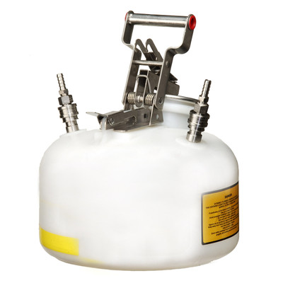 Justrite 2 gal Centura Quick-Disconnect Safety Can, SS Fittings