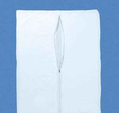 Post Mortem bag, White, Straight Zipper, 3 White Tags, 10 per case