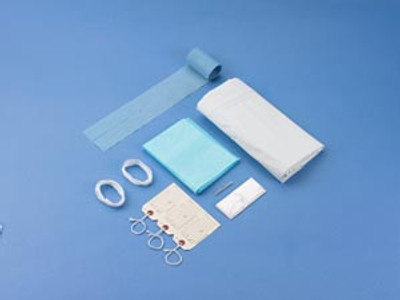 Post Mortem Kit, White, Curved Zipper, 3 White Tags, 10 per case