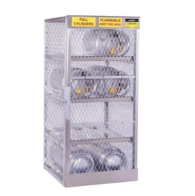 Horizontal Gas Cylinder Storage Locker, Aluminum, 8 Cylinders