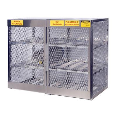 Horizontal Gas Cylinder Storage Locker, Aluminum, 12 Cylinders