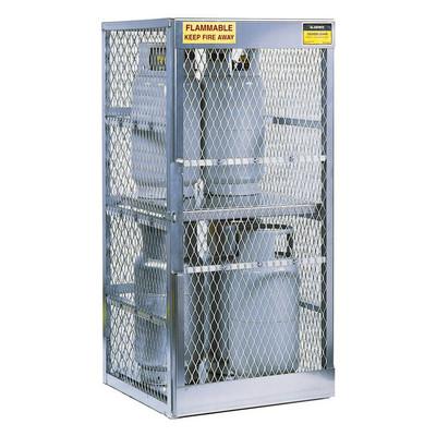 Vertical Gas Cylinder Storage Locker, Aluminum (CSA), 8 Cylinder