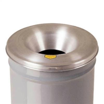 Justrite® Cease-Fire Drum Head for 30 gal drum bodies, Medium Aluminum