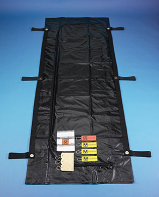 """Disasterbag, Black with 6 Handles, 34"""" x 96"""", 5 per case"""