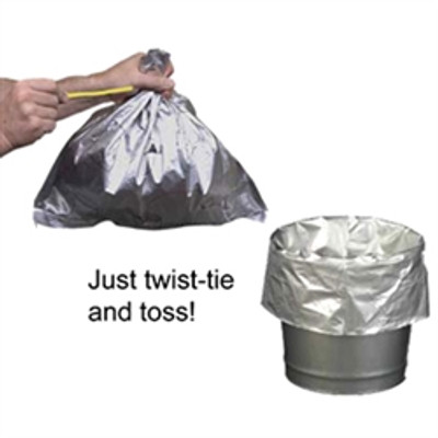 Trash Can Liners, Fire-Resistant Aluminum/Poly for Cease-Fire Butt Cans