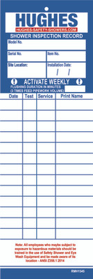 Equipment Inspection Record Service Card, 2 Pack