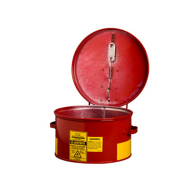 Justrite 1 gallon Steel Dip Tank, Manual Cover and Fusible Link, Choose Color