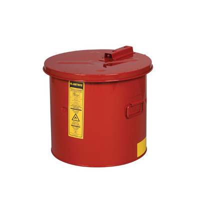 Justrite 5 gallon Steel Dip Tank, Manual Cover and Fusible Link, Choose Color