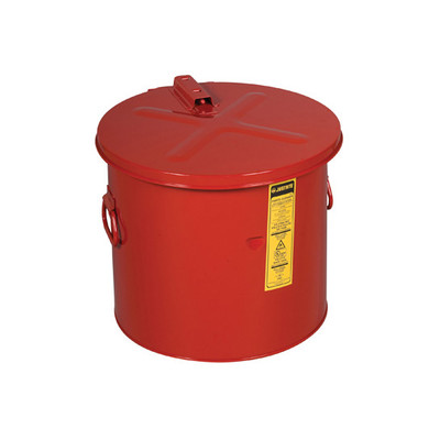 Justrite Steel Dip Tank, Self-Close Cover and Fusible Link, 8 gallon, Choose Color