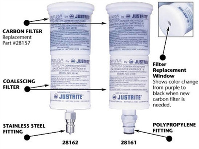 Justrite Coalescing Carbon Filter for PP Quick Disconnect Safety Cans
