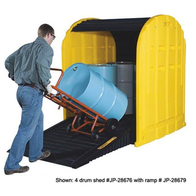 Justrite® Ramp for Drum Shed in Black or Yellow, Poly