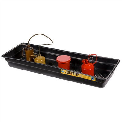 Justrite® Secondary Containment Tray, 46 x 16 x 5.5""