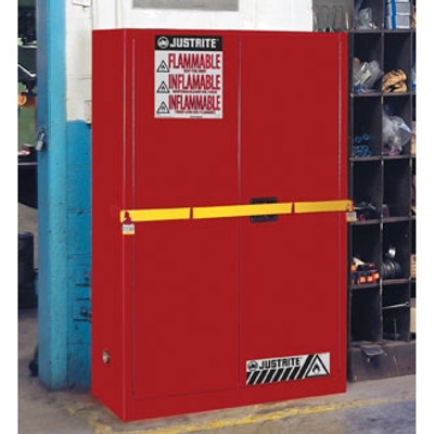 Justrite® 45 gal High Security Flammable Safety Cabinet Red manual