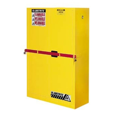 Justrite® 45 gal High Security Flammable Safety Cabinet yellow manual