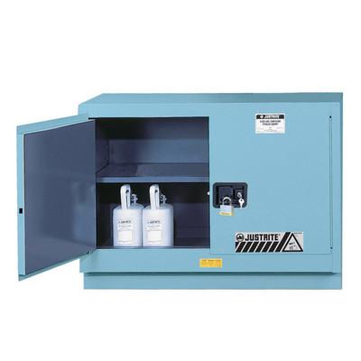 Justrite® Acid Safety Cabinet, Fume Hood Cabinet, 31 gallon, Blue, Manual