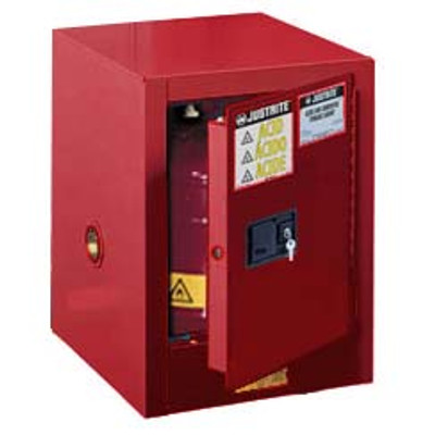 Justrite® Flammable Countertop Cabinet, 4 gal Red self-closing