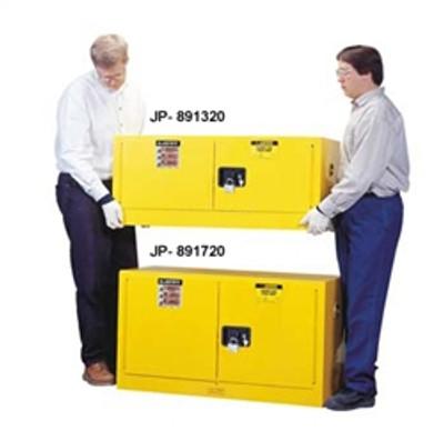 Justrite® Flammable Piggyback Cabinet, 12 gallon self-closing