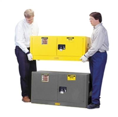 Justrite® Flammable Piggyback Cabinet, 17 gal Gray self-closing
