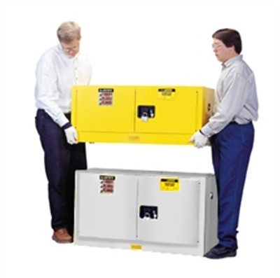 Justrite® Flammable Piggyback Cabinet, 17 gal White self-closing