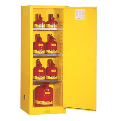 Justrite® Manual Slimline Flammable Cabinet, 22 gallon, Choose Color