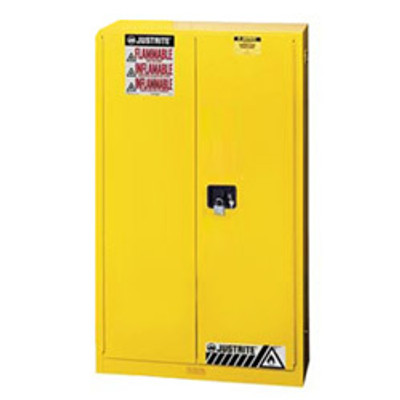 Justrite® Flammable Safety Cabinet, 45 gallon, Self-Closing