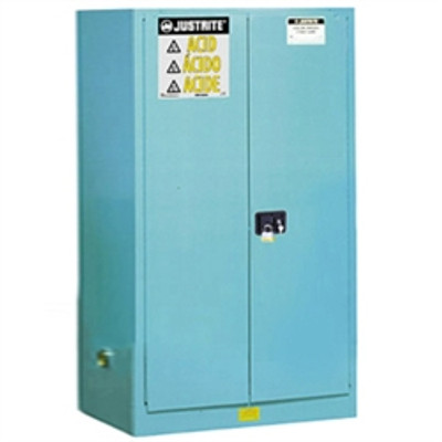 Justrite® Acid Safety Cabinet, 60 gallon Blue, Self-Closing