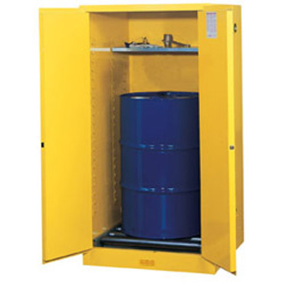 Justrite 896270 Flammable Drum Cabinet 55 Gal Rollers